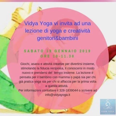 Vidya yoga – Lezione di yoga e creatività genitori e bambini